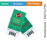 american football tickets icon. ... | Shutterstock .eps vector #436711750