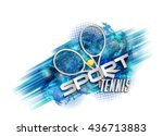 abstract blue background sport... | Shutterstock .eps vector #436713883