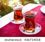 Turkish Tea In Restaurant In...