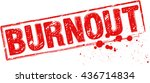 """the word """"burnout"""" stamped with ... 