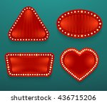 retro banners in different... | Shutterstock .eps vector #436715206