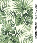 tropical seamless pattern with... | Shutterstock .eps vector #436717900