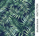 tropical seamless pattern with... | Shutterstock .eps vector #436717924