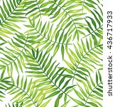 tropical seamless pattern with... | Shutterstock .eps vector #436717933