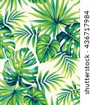 tropical seamless pattern with... | Shutterstock .eps vector #436717984