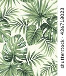 tropical seamless pattern with... | Shutterstock .eps vector #436718023