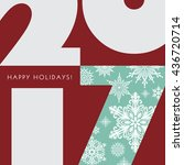 2017 new year greetings card.... | Shutterstock .eps vector #436720714