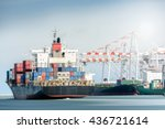 international transportation... | Shutterstock . vector #436721614