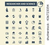 researcher and science icons | Shutterstock .eps vector #436723354