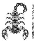 clean lines doodle design of... | Shutterstock .eps vector #436727563