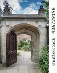 Large Stone Gateway With Open...