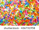 colorful sweet background with... | Shutterstock . vector #436731958