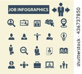job infographics icons | Shutterstock .eps vector #436737850