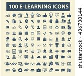 learning icons | Shutterstock .eps vector #436738144