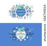 set of modern vector... | Shutterstock .eps vector #436745014