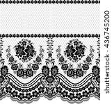 seamless lace pattern  flower... | Shutterstock .eps vector #436745200