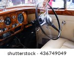 Interior Of A Classic Vintage...
