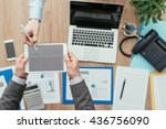 business people meeting in the... | Shutterstock . vector #436756090