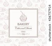 sweet dessert food frame.... | Shutterstock .eps vector #436757914