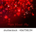 happy canada day background... | Shutterstock .eps vector #436758154