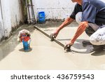 construction workers pouring... | Shutterstock . vector #436759543