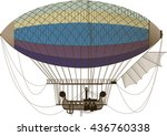 Fictional Retro Dirigible With...