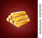 ingot | Shutterstock .eps vector #436761454