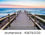 wooden walkway on the atlantic...   Shutterstock . vector #436762120