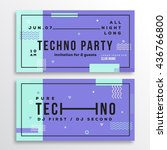 night techno party club... | Shutterstock .eps vector #436766800