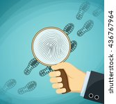 detective holding a magnifying... | Shutterstock .eps vector #436767964