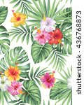 tropical seamless pattern with... | Shutterstock .eps vector #436768873