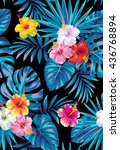 tropical seamless pattern with... | Shutterstock .eps vector #436768894