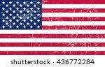 grunge flag of usa.old american ... | Shutterstock .eps vector #436772284