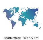 world map countries colorful.... | Shutterstock .eps vector #436777774