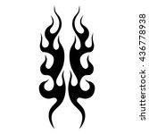 flame tattoo tribal vector... | Shutterstock .eps vector #436778938