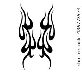flame tattoo tribal vector... | Shutterstock .eps vector #436778974
