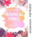 bright hawaiian design with... | Shutterstock .eps vector #436781833