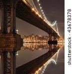 new york city skyline and... | Shutterstock . vector #43678378