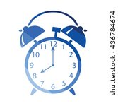 alarm clock icon. flat color...