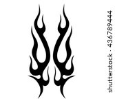 flame tattoo tribal vector... | Shutterstock .eps vector #436789444