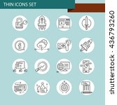 set of thin line business icons | Shutterstock .eps vector #436793260