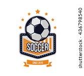 soccer logo vector design | Shutterstock .eps vector #436798540