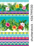 seamless striped pattern with... | Shutterstock .eps vector #436799530