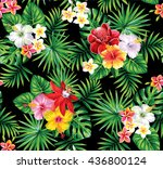 tropical seamless pattern with... | Shutterstock .eps vector #436800124