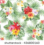 tropical seamless pattern with... | Shutterstock .eps vector #436800160