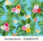 tropical seamless pattern with... | Shutterstock .eps vector #436800199