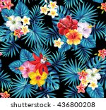 tropical seamless pattern with... | Shutterstock .eps vector #436800208