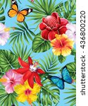 tropical seamless pattern with... | Shutterstock .eps vector #436800220