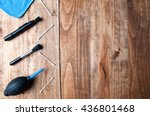 equipment for cleaning camera... | Shutterstock . vector #436801468