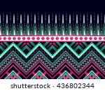 geometric ethnic oriental... | Shutterstock .eps vector #436802344